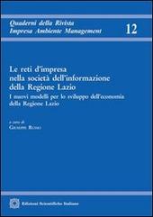 Le reti d'impresa nella società dell'informazione della Regione Lazio