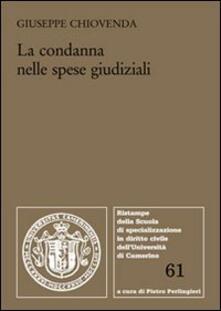 La condanna nelle spese giudiziali - Giuseppe Chiovenda - copertina
