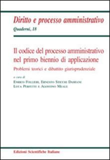 Il codice del processo amministrativo nel primo biennio di applicazione - copertina