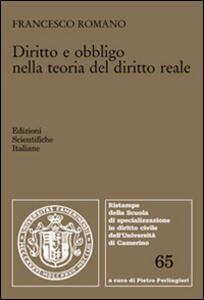 Diritto e obbligo nella teoria del diritto reale