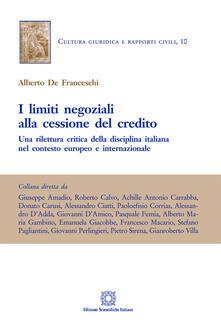 I limiti negoziali alla cessione del credito.pdf