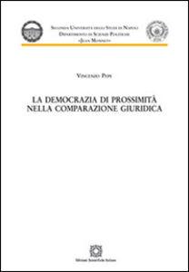 Libro La democrazia di prossimità nella comparazione giuridica Vincenzo Pepe