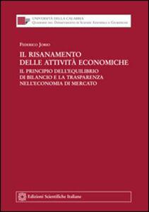Libro Il risanamento delle attività economiche Federico Jorio