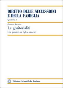 Libro La genitorialità Giuseppe Recinto