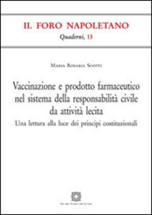 Promoartpalermo.it Vaccinazione e prodotto farmaceutico nel sistema della responsabilità civile da attività lecita. Una lettura alla luce dei principi costituzionali Image