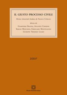 Il giusto processo civile (2017). Vol. 2: Giugno. - copertina