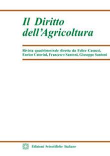 Il diritto dell'agricoltura (2017). Vol. 1 - copertina