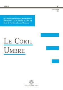 Le corti umbre (2017). Vol. 1 - copertina