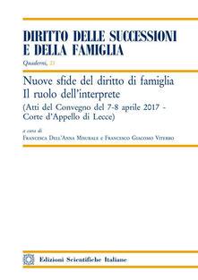 Daddyswing.es Nuove sfide del diritto di famiglia. Il ruolo dell'interprete. Atti del convegno (Lecce, 7-8 aprile 2017) Image