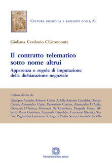 Il contratto telematico sotto nome altrui. Apparenza e regole di imputazione della dichiarazione negoziale.pdf
