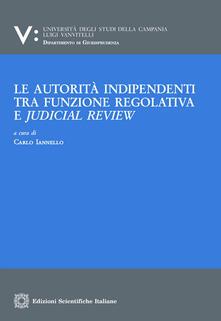 Le autorità indipendenti tra funzione regolativa e judical review - copertina