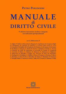 Manuale di diritto civile - Pietro Perlingieri - copertina