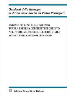 Tutela esterna dei diritti di credito nell'evoluzione dell'illecito civile - Antonio Bellizzi di San Lorenzo - copertina