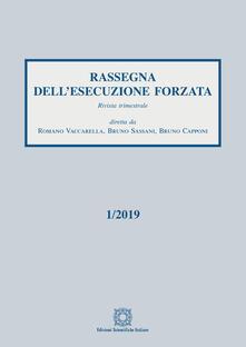 Rassegna dell'esecuzione forzata (2019). Vol. 1 - copertina