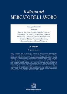 Il diritto del mercato del lavoro (2019). Vol. 1 - copertina