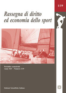Recuperandoiltempo.it Rassegna di diritto ed economia dello sport (2019). Vol. 1 Image