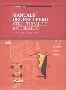 Winniearcher.com Manuale del recupero strutturale e antisismico. Con CD-ROM Image