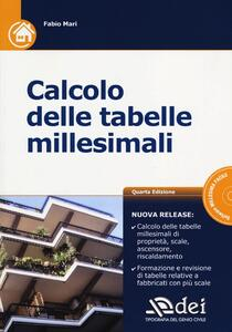 Calcolo delle tabelle millesimali. Con CD-ROM