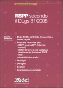 RSPP secondo il Dlgs 81/2008