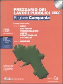 Promoartpalermo.it Prezzario dei lavori pubblici 2008. Regione Campania. Con CD-ROM Image