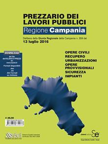 Prezzario dei lavori pubblici Campania 2016 - copertina