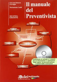 Il manuale del preventivista. Con CD-ROM - Roberto Farruggio,Mariantonia Casilli - copertina