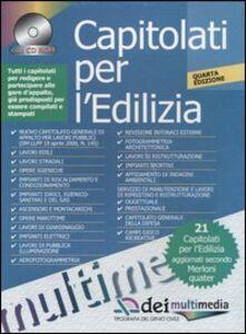 Libro Capitolati per l'edilizia. Con CD-ROM