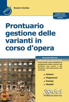 Steamcon.it Prontuario gestione delle varianti in corso d'opera. Con Contenuto digitale per download Image