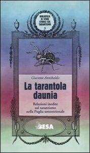 Foto Cover di La tarantola daunia. Relazioni inedite sul tarantismo nella Puglia settentrionale, Libro di Giacomo Annibaldis, edito da Besa