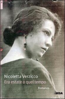 Era estate a quel tempo - Nicoletta Verzicco - copertina