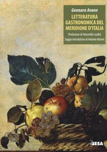 Letteratura gastronomica del meridione d'Italia - Gennaro Avano - copertina