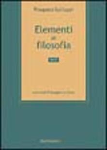 Radiospeed.it Elementi di filosofia. Vol. 1 Image