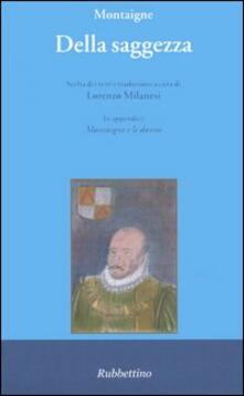 Della saggezza - Michel de Montaigne - copertina