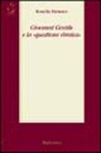 Foto Cover di Giovanni Gentile e la «questione ebraica», Libro di Rosella Faraone, edito da Rubbettino