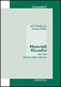 Libro Materiali filosofici. Per una «storia della cultura» Antonello Giugliano