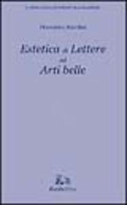 Libro Estetica di lettere ed arti belle Domenico Anzelmi