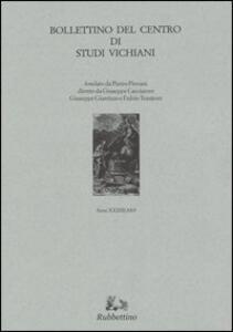 Bollettino del Centro di studi vichiani. Vol. 33