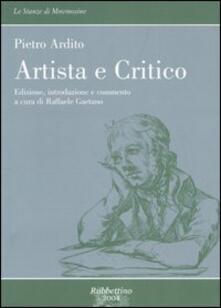 Artista e critico. Corso di studi letterari - Pietro Ardito - copertina