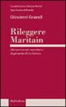 Grandtoureventi.it Rileggere Maritain. Attraverso un repertorio degli articoli in rivista Image
