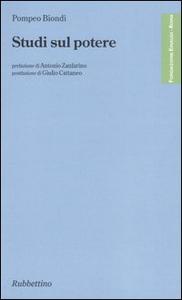 Libro Studi sul potere Pompeo Biondi