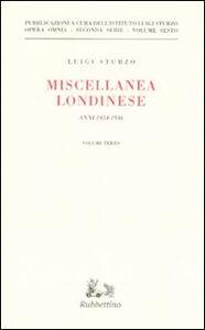 Miscellanea londinese (1934-1936). Vol. 3