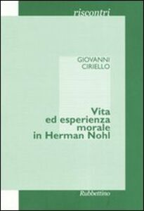 Vita ed esperienza morale in Herman Nohl