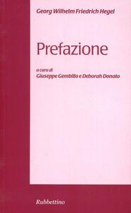 Libro Prefazione Friedrich Hegel