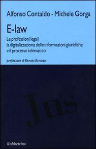 E-law. Le professioni legali, la digitalizzazione delle informazioni giuridiche e il processo telematico