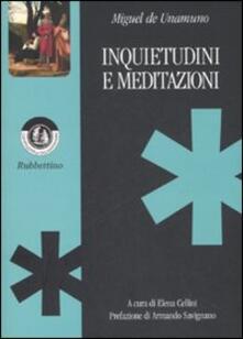 Inquietudini e meditazioni - Miguel de Unamuno - copertina