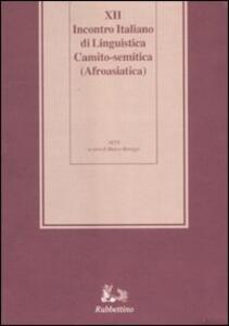 Dodicesimo incontro italiano di linguistica Camito-semitica (Afroasiatica). Atti del Convegno (Ragusa, 6-9 giugno 2005). Ediz. multilingue