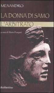 La donna di Samo-L'arbitrato. Testo greco a fronte
