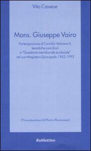 Libro Monsignor Giuseppe Vairo Vito Cassese