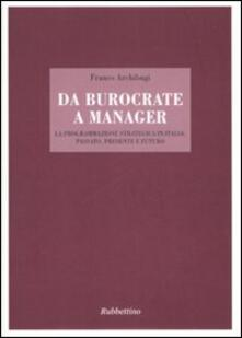 Squillogame.it Da burocrate a manager. La programmazione strategica in Italia: passato, presente e futuro Image