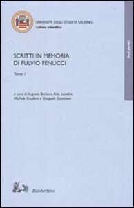 Foto Cover di Scritti in memoria di Fulvio Fenucci, Libro di  edito da Rubbettino